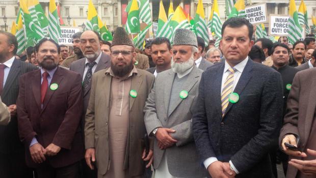 London visit:  Kashmir Million March Oct 2014