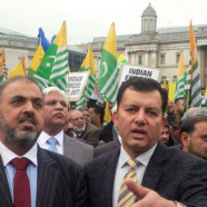 London:  Kashmir Million March venue Trafalgar Square on 26th Oct 2014