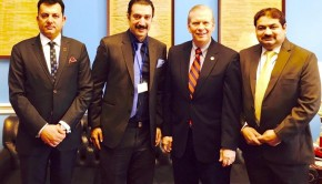 3-member delegation, led by AJK Cabinet Minister Faisal Rathore, accompanied by Murtaza Durrani Adviser to the Govt of AJK and Executive Director of Kashmiri Scandinavian Council Norway, Sardar Ali Shahnawaz Khan held meeting with US Congressman  Tim Walberg on Feb 4, 2015 in Washington.